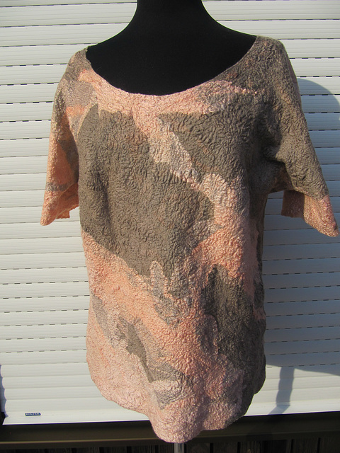 nuno felted blouse - ssilk and merino wool