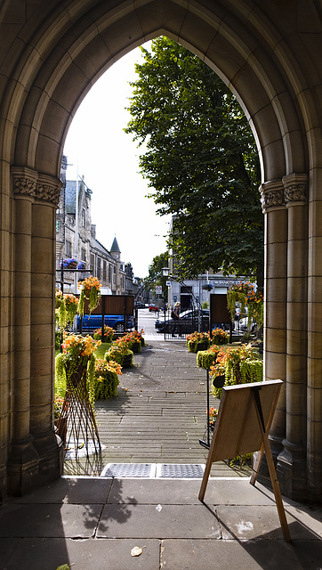 St Andrews, Looking out the Door of Holy Trinity Church