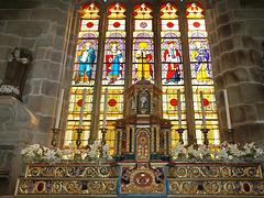 P8183430ac Ploumilliau Main Window and Baroque Altar