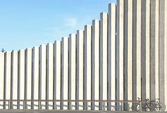 minimalistic bike fence in Reykjavik