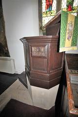 Pulpit, St John the Evangelist's Church, Gressingham, Lancashire