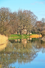 Reflections on the river Glen