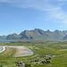 Norway, Lofoten Islands, Panoramic Landscape of the Ytresand Bay