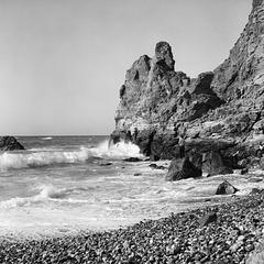Surf and rocks on St Agnes beach