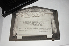 Memorial to Georgina Marton (1835-1844), Gressingham Church, Lancashire