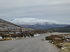 Snows by the Glenshee road