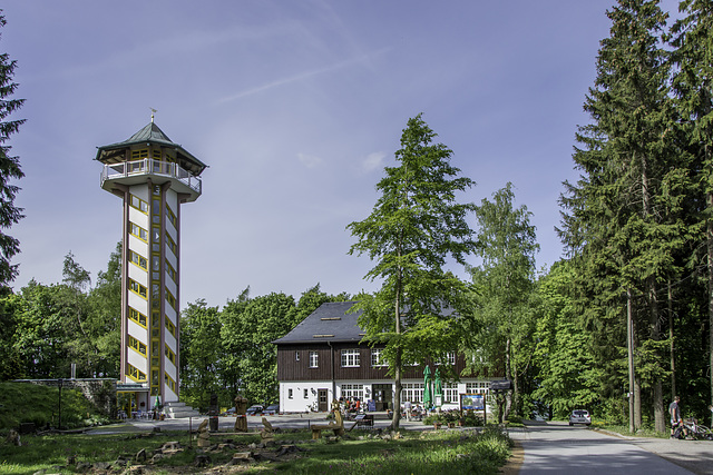 Aussichtsturm, Bürger- und Berggasthaus auf dem Scheibenberg