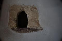small niche in a wall, castle of Cerisy-la-Salle