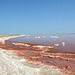Namibia, Walvis Bay Salt Pans with Red Water