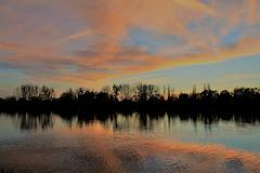 coucher du soleil sur la Seine
