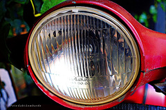 headlight from an old Vespa