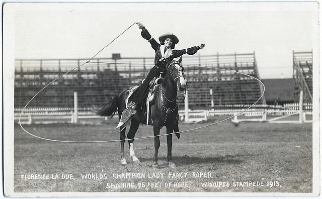 WP2198 WPG - FLORENCE LA DUE… WINNIPEG STAMPEDE 1913