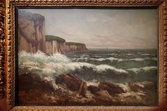 """""""Les falaises d'Etretat"""" (Gustave Courbet - 1869)"""