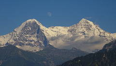 Eiger, moon & Mönch
