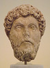 Portrait Head of Marcus Aurelius from Athens in the National Archaeological Museum of Athens, May 2014
