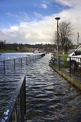 Flood at Dumbarton Quay