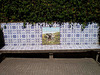 Bench with tiles.