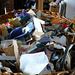 collage paper scraps basket