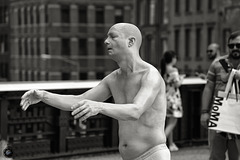 Street performer on the High Line