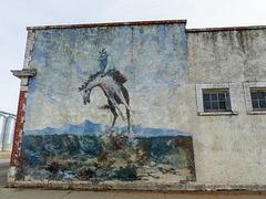 Cowboy mural, Blackie, Alberta