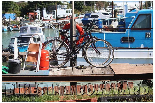 Bikes in a boatyard - Newhaven - 6.7.2015