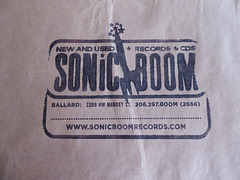 Shopping bag from Sonic Boom