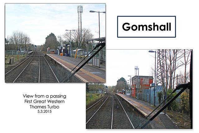 Gomshall Station - Surrey - 5.3.2015