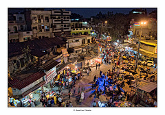 Le quartier de Paharganj vu du ciel