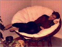 Fabienne dans son premier appartement