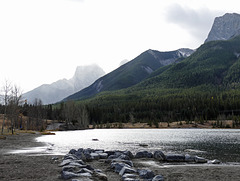 Storm arriving at Quarry Lake, near Canmore