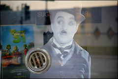 the ghost of Charlie Chaplin