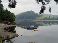 Lake Vyrnwy boathouse