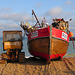 hastings (10)fishing boat and tractor on the stade