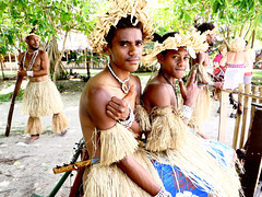 Young men from Mystery Island.. New Caledonia.