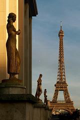 Carte postale parisienne et bichromique