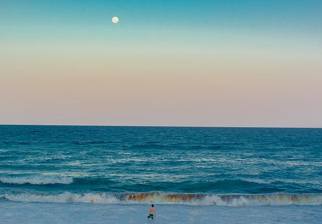 Indian Ocean Moonrise