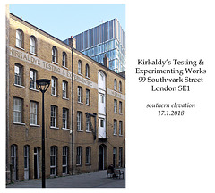 Southwark - Kirkaldy's Testing & Experimenting Works, 99 Southwark Street, 17.1.2018 south elevation