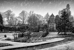 War Memorial, Hermitage Park, Helensburgh in the Snow