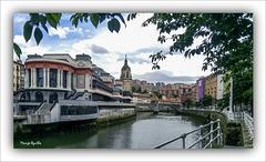 Plaza de la Ribera y puente de San Antón