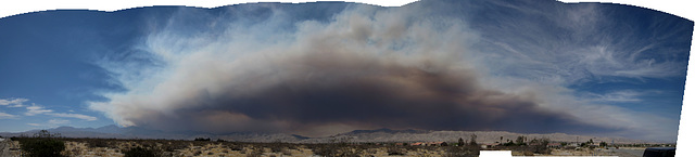 Lake Fire Smoke Seen From Desert Hot Springs
