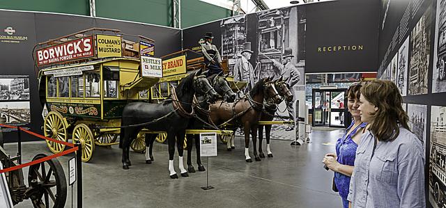 London Bus Museum entrance display at Brooklands