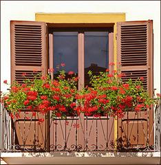 Oulx : un balcone in rosso - (725)
