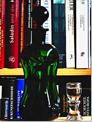 Literatur und ein Glas 'Eau de vie'