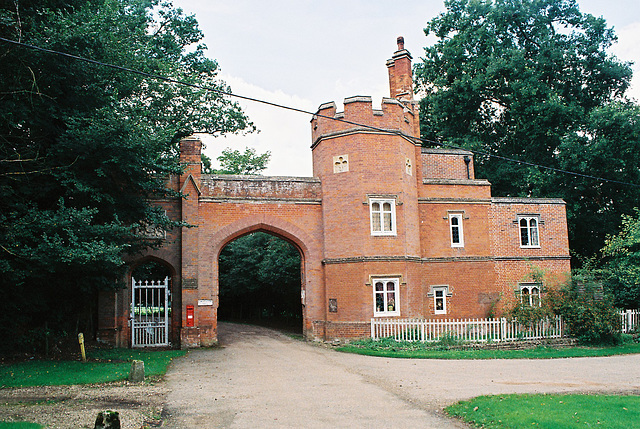 Gate Lodge to the largely demolished Edwardstone Hall, Suffolk