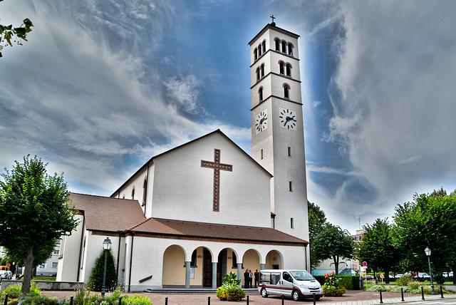 Katholische Christkönigskirche Huningue,Frankreich