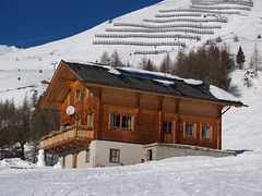 Ordinary Alpine Wooden House