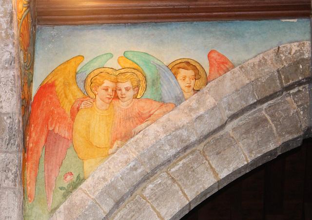 Phoebe Anna Traquair Murals of c1905, St Peter's Church, Clayworth, Nottinghamshire