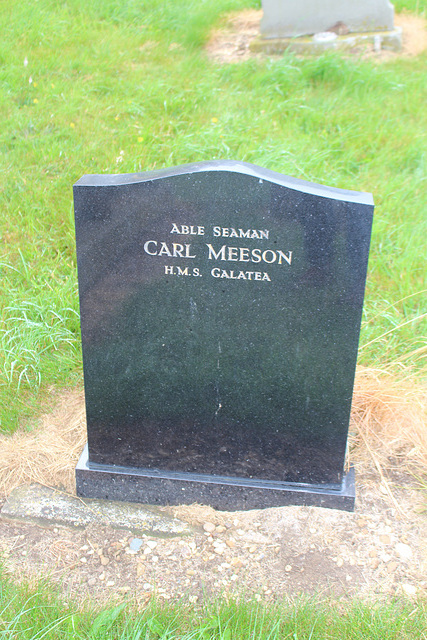 Memorial to Able Seaman Carl Meeson Died 7th Jan 1976, Kings Norton, Leicestershire