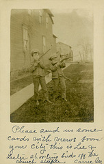 Lee and Lester Shooting Birds Off the Church Steeple, Luthersburg, Pa., 1907