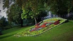 Blason de la ville de Clermont - Fd  - Jardin Lecoq (63)
